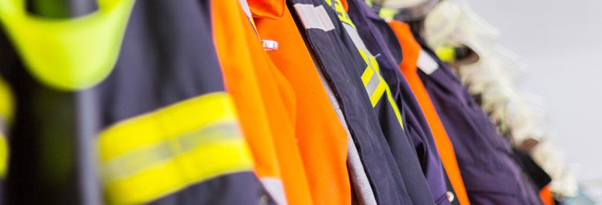 équipement et vêtements professionnels