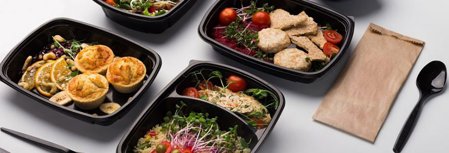 Service de livraison de plateaux repas