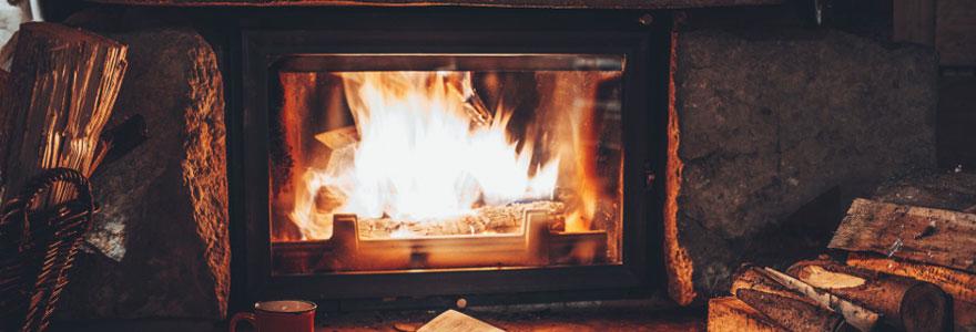 un chauffage à bois