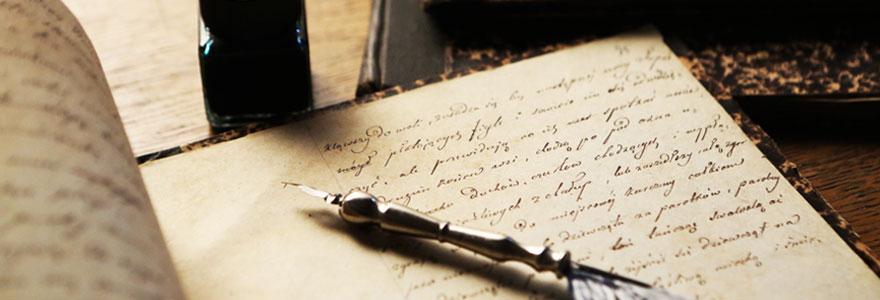 Manuscrits auteurs célèbres