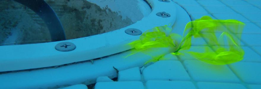 Recherche de fuites d'eau par colorant traceur