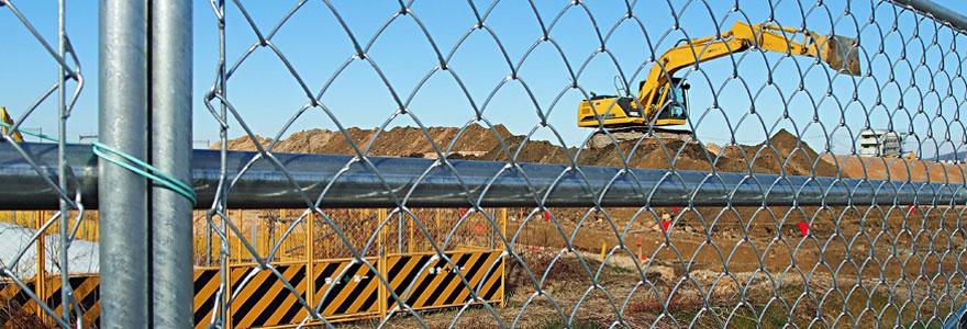 Barrières de sécurité chantier